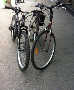 Nos vélos amoureux!